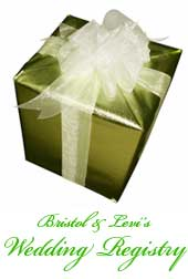 Bristol and Levi's Wedding Registry